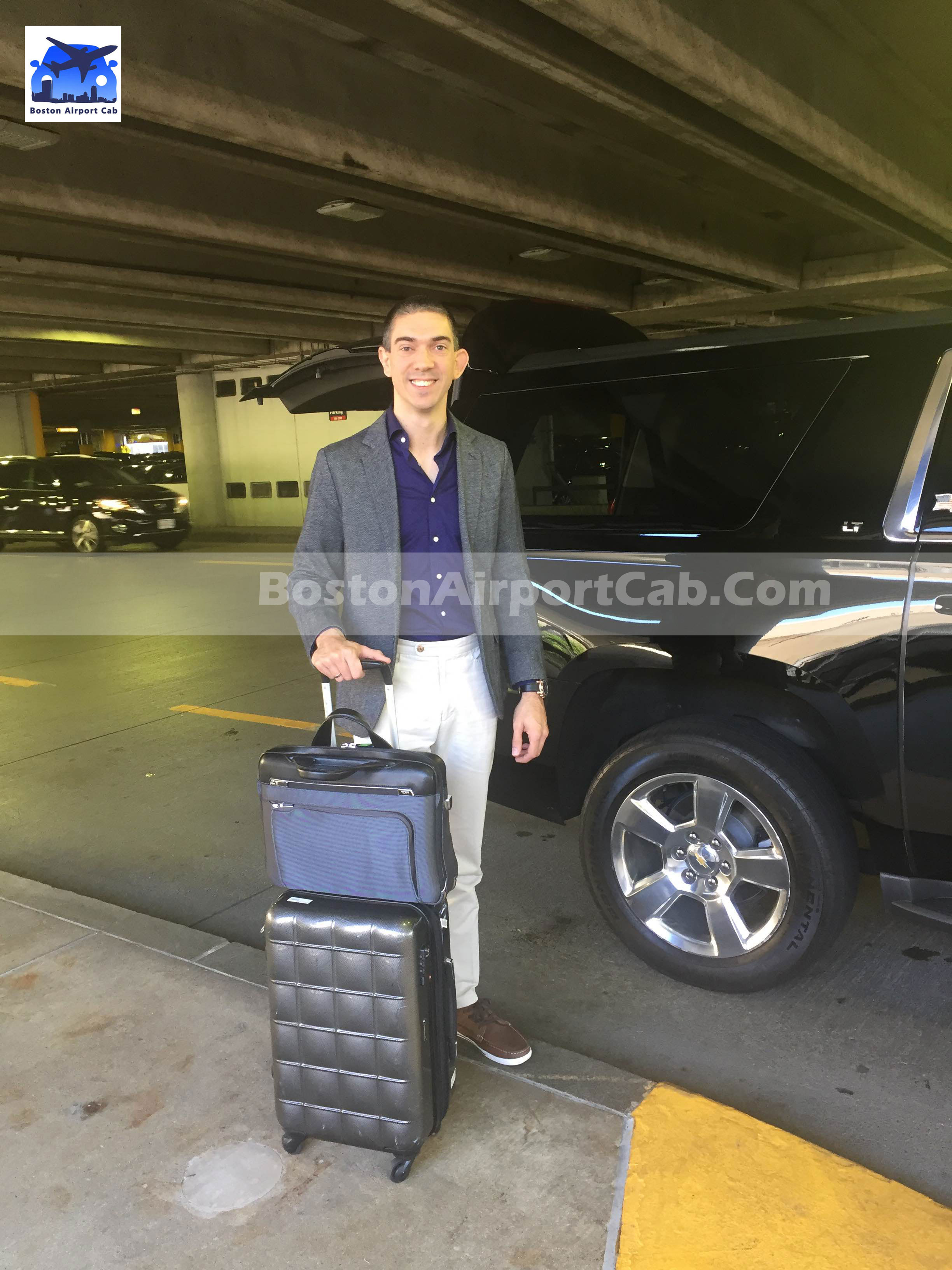 Satisfied Client With Our Airport Taxi Service Boston