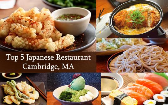 Top 5 Japanese Restaurant Cambridge, MA